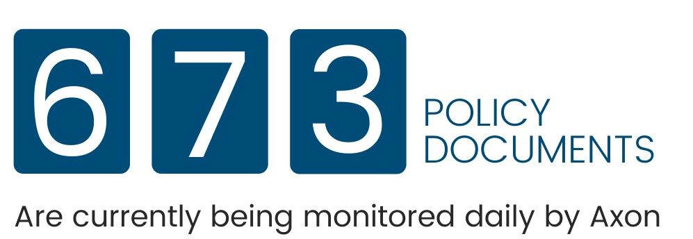 Number of Policy documents monitored by Axon