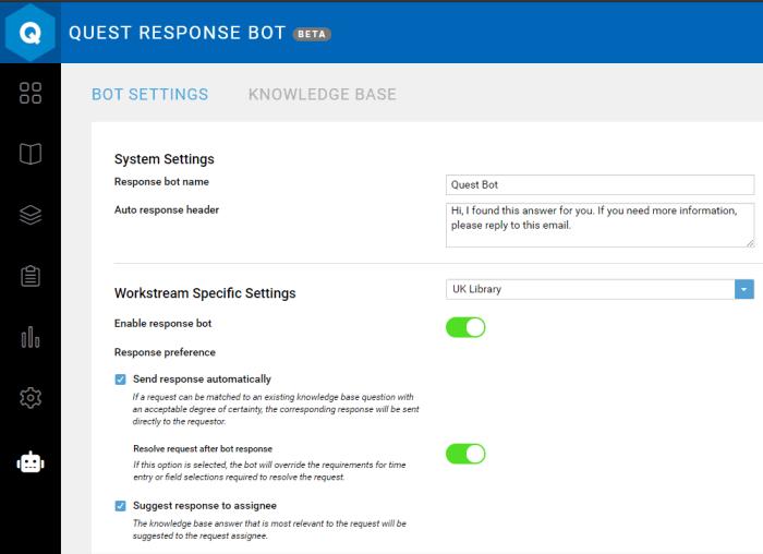 request management response bot