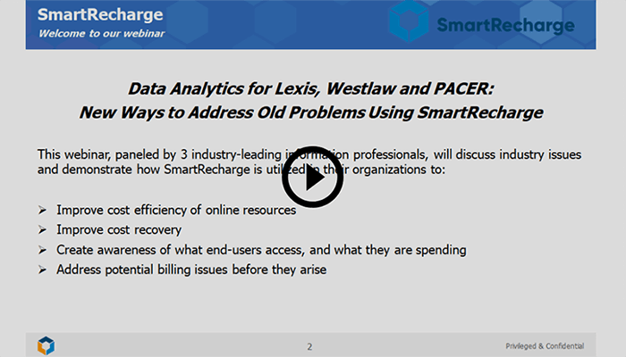 Recording of our SmartRecharge webinar is now available for playback