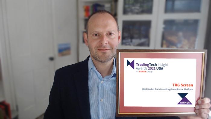 TRG Screen wins 'Best Market Data Inventory/Compliance Platform'